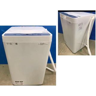 シャープ(SHARP)の★美品★ SHARP シャープ ES-GE5C-W 全自動洗濯機 洗濯5.5kg(洗濯機)
