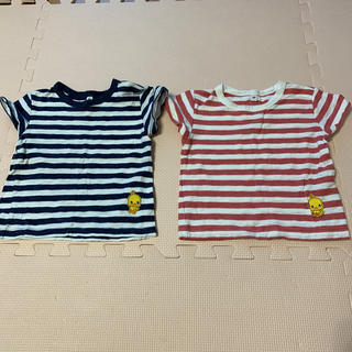 ムジルシリョウヒン(MUJI (無印良品))の美品   無印   2枚セット   80(Tシャツ)