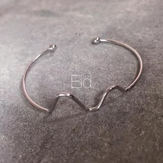 ルシェルブルー(LE CIEL BLEU)のWave silver bangle No.103(ブレスレット/バングル)