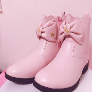 SWIMMER - 新品 ピンク色リボンブーツ