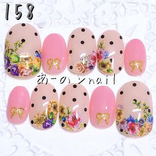 送料&カラー変更1色無料«158»ジェルネイルチップ♡*.