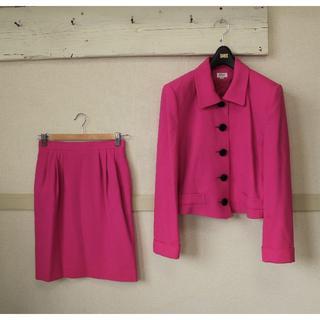 フォクシー(FOXEY)のS809★フォクシー FOXEY 綺麗色ピンク スカートスーツ セットアップ40(スーツ)