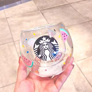 Starbucks Coffee - スターバックス ダブルウォールグラス スイカ タンブラー スタバ マグカップ