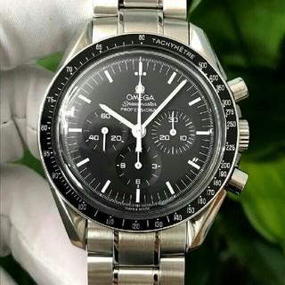 オメガ(OMEGA)のOMEGA 黒文字盤 メンズ 腕時計(腕時計(アナログ))