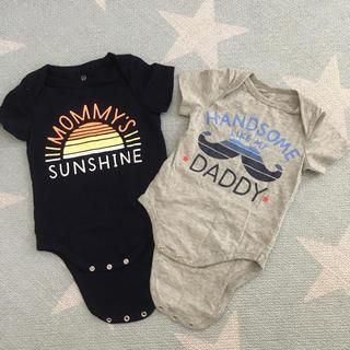 ベビーギャップ(babyGAP)のbaby GAP 半袖ロンパース 2枚セット 12-18months(ロンパース)