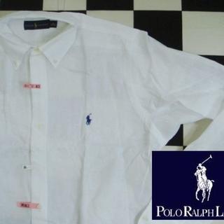 POLO RALPH LAUREN - 【ラルフローレン】長袖BDシャツM(175cm)白麻リネンポロ