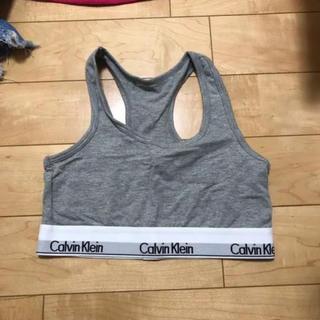 カルバンクライン(Calvin Klein)のカルバンクライン ブラ S グレー(ブラ)