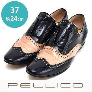 PELLICO - ペリーコ バイカラー エナメル ドレスシューズ 37(約24cm)