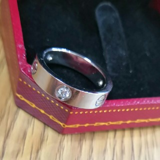 Cartier - 売り上げCartier リング(指輪)調節でき クリスタル飾り s925