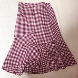 ディーホリック(dholic)の韓国 ギンガムチェック マーメイドスカート 新品(ひざ丈スカート)