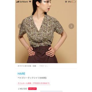 ハレ(HARE)のペイズリータックシャツ(シャツ/ブラウス(長袖/七分))