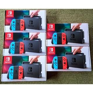 ニンテンドースイッチ(Nintendo Switch)のswitch 5台 ネオン まとめ売り(家庭用ゲーム本体)