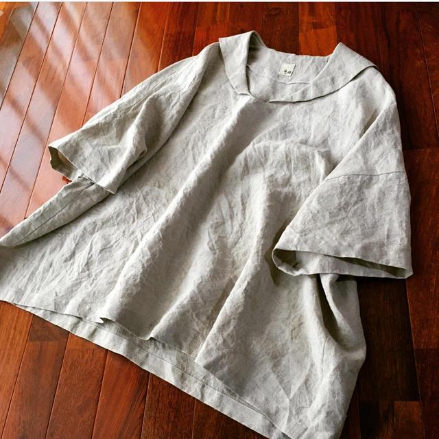 セーラー襟プルオーバー  生成 ハンドメイドのハンドメイド その他(その他)の商品写真