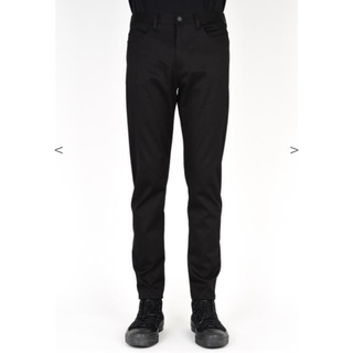 LAD MUSICIAN - TAPERED TIGHT PANTS SUPER BLACK