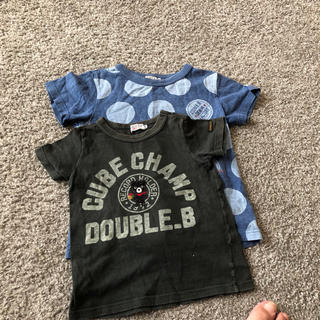 DOUBLE.B - tシャツ ダブルビー double.b 2枚セット 100 110