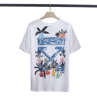 OFF-WHITE - OFF WHITE Tシャツ 男女兼用 半袖 メンズ レディース