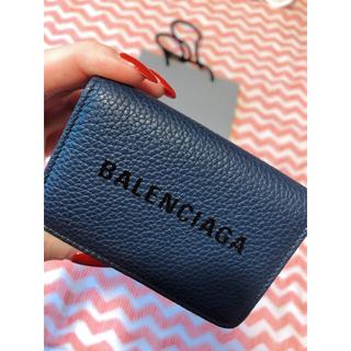 バレンシアガ(Balenciaga)のバレンシアガ ミニウォレット 大人気カラーダークネイビー(折り財布)