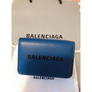 バレンシアガ(Balenciaga)のバレンシアガ ミニウォレット 大人気カラーネイビー(折り財布)