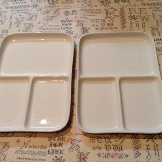 ムジルシリョウヒン(MUJI (無印良品))の無印良品◇角皿(仕切り付)2枚セット(食器)