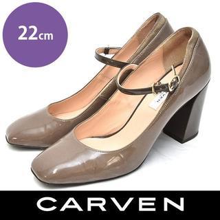 カルヴェン(CARVEN)のカルヴェン ストラップ エナメル パンプス 22cm(ハイヒール/パンプス)