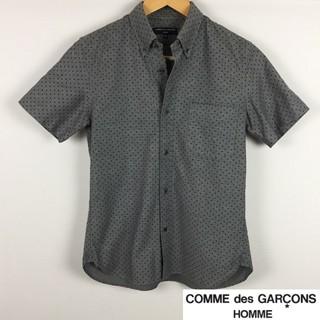 コムデギャルソン(COMME des GARCONS)の美品 コムデギャルソンオム 半袖シャツ ドット柄 グレー サイズXS(シャツ)