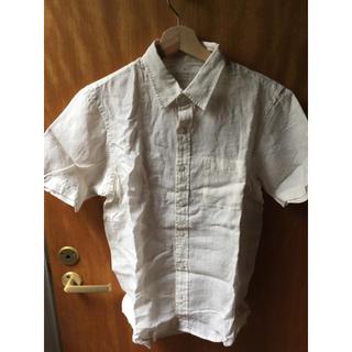 ムジルシリョウヒン(MUJI (無印良品))の無印良品 フレンチリネン洗いざらし半袖シャツ 紳士S(シャツ)