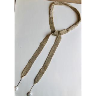 BARNEYS NEW YORK - バーニーズニューヨーク 購入 チョーカー風 ゴールド糸パールネックレス