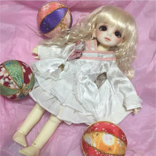 ボークス(VOLKS)のボークス製ももいろ着物ドレス/幼SD.幼天使サイズ/スーパードルフィー/ドール用(その他)