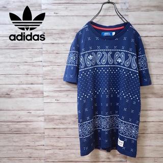 adidas - Adidas Originals ペイズリー柄トレフォイルTシャツ 総柄