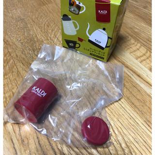 カルディ(KALDI)の新品 カルディ ミニチュア キャニスター缶 レッド(ミニチュア)
