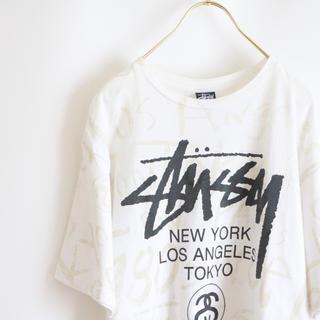 ステューシー(STUSSY)の【STUSSY】半袖Tシャツ ロゴプリント 白☆(Tシャツ/カットソー(半袖/袖なし))