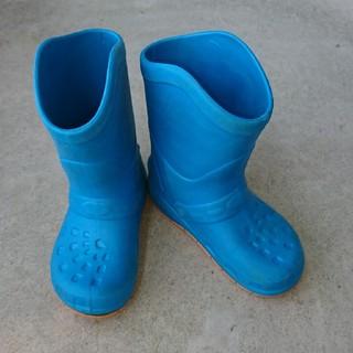 クロックス(crocs)のキッズ 長靴 水色・茶色 2点セット 19~20cmサイズ(長靴/レインシューズ)