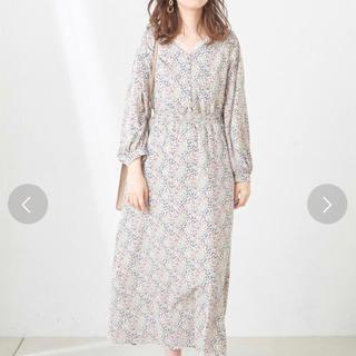 natural couture - 新品 変形シャーリングレディロングワンピ ナチュラルクチュール
