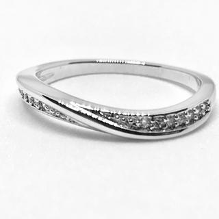 シンプルリング プラチナホワイトカラー ジルコン 20号(リング(指輪))
