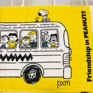 スヌーピー(SNOOPY)の新品未使用 スヌーピーミュージアム フェイスタオル バス(タオル/バス用品)