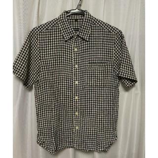 ムジルシリョウヒン(MUJI (無印良品))の無印良品 ギンガムチェック半袖シャツ 麻100%(シャツ)
