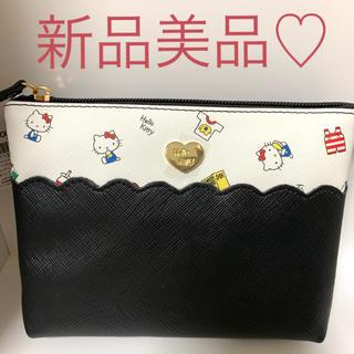 ハローキティ(ハローキティ)の新品美品♡キティー ダブルポーチ♡サンリオ♡(ポーチ)
