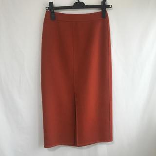ニジュウサンク(23区)の新品 23区 ウール100% スカート 小さめサイズ 朱色(ひざ丈スカート)