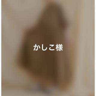 メルロー(merlot)のMERLOT IKYU バンドカラーコットンシャツワンピース 茶色です。(ロングワンピース/マキシワンピース)