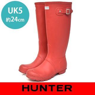 ハンター(HUNTER)のハンター トール ロングブーツ レインブーツ UK5(約24㎝)(レインブーツ/長靴)
