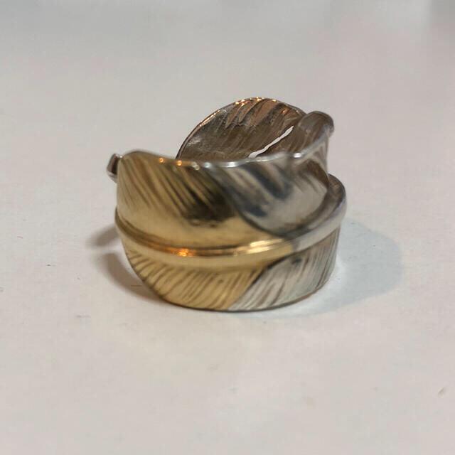 goro's(ゴローズ)のゴローズ 先金フェザーリング 美品 19号 レア メンズのアクセサリー(リング(指輪))の商品写真