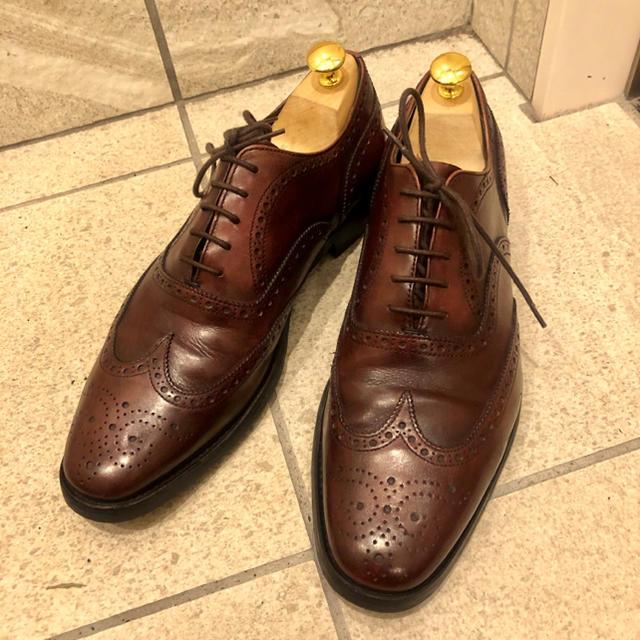 PRADA(プラダ)の定価8万 プラダ ウイングチップ ウイングチップ ブラウン メンズの靴/シューズ(ドレス/ビジネス)の商品写真
