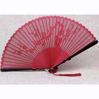 竹の扇子中国風 彫刻する 透かし雕り折扇(その他)
