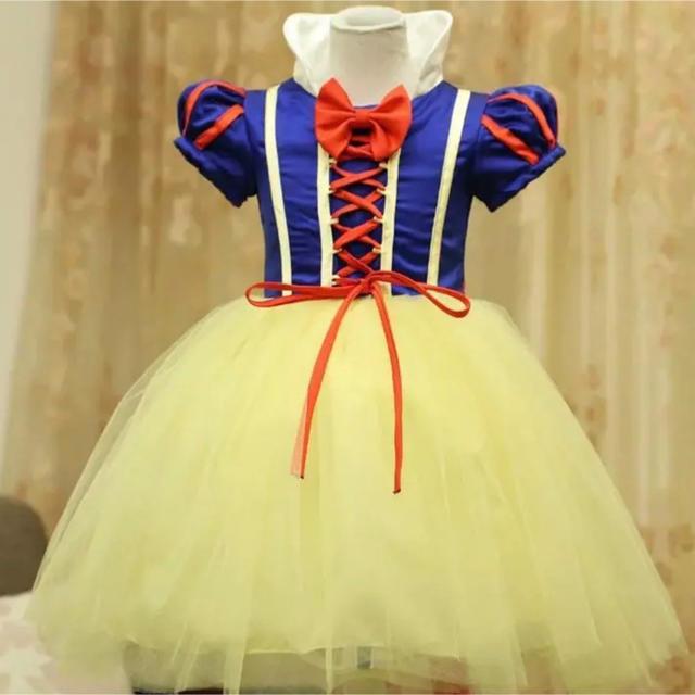 ワンピース ディズニー 白雪姫 ドレス コスチューム110 キッズ/ベビー/マタニティのキッズ服 女の子用(90cm~)(ワンピース)の商品写真
