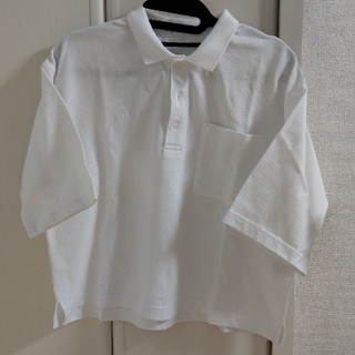 ジーユー(GU)のGU 白ポロシャツ(ポロシャツ)