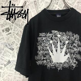 ステューシー(STUSSY)の激レア ステューシー stussy 王冠ロゴTシャツ(Tシャツ/カットソー(半袖/袖なし))