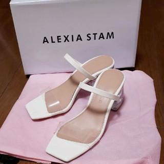 アリシアスタン(ALEXIA STAM)のalexiastam♡ クリアサンダル ホワイト 白 完売商品(サンダル)