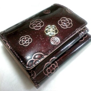 CLATHAS - 未使用 クレイサス 三つ折り財布 ワイン色
