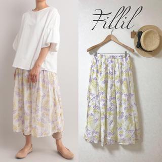 メルロー(merlot)の新品✨ ガーゼ生地風 ふんわり 花柄 ロングスカート(ロングスカート)