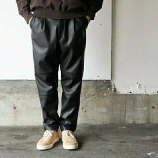 SUNSEA - stein 18aw レザーパンツ 黒